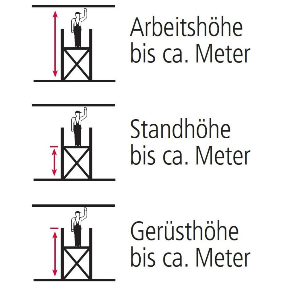 Alu-Fahrgerüst altrex Professional, Plattform 1,35 x 1,85 m