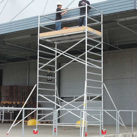 Alu-Fahrgerüst altrex Professional, Plattform 1,35 x 2,45 m