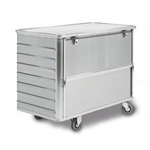 Alu-Kastenwagen. Halb absenkbare Längswand, Volumen bis 650Liter