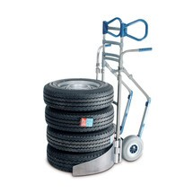 Aluminium bandensteekwagen voor 4 banden. Capaciteit 200 kg