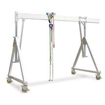 Aluminium gantry kran, rörlig