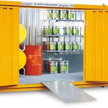 Aluminium oprijplaat voor milieucontainers