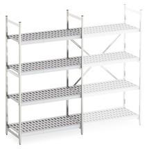 Aluminium plank met kunststof roosterplanken, basisveld, belasting 600 kg