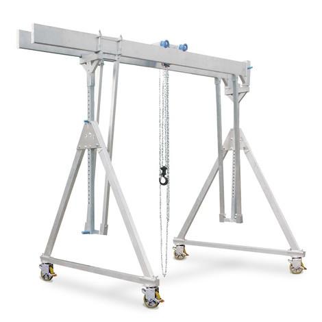Aluminium portaalkraan met dubbele traverse, verrijdbaar