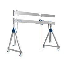 Aluminium portaalkraan met scheidbare drager, beweegbaar