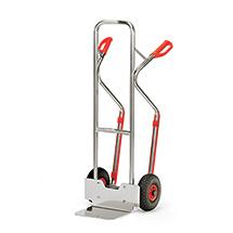 Aluminium-Sackkarre fetra® mit Gleitkufen. Tragkraft 200 kg