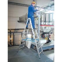 Aluminium-Sprossenleiter KRAUSE®, 2-seitig begehbar