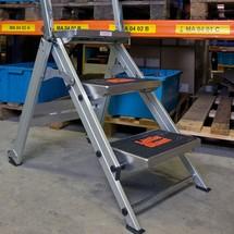 Aluminium trap Brenta, enkel oploopbaar
