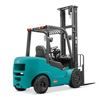 Ameise® diesel counterbalance forklift, two stage telescopic mast, lift 3000 mm, capacity 2500 kg