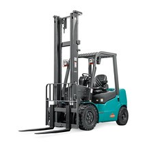 Ameise® diesel counterbalance forklift, two stage telescopic mast, lift 3000 mm, capacity 3000 kg