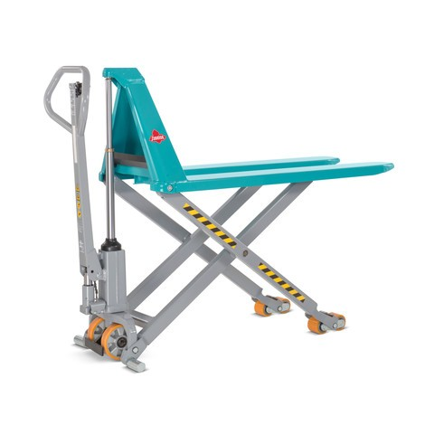 Ameise® scissor lift pallet truck, manual-hydraulic, load capacity up to 1,500 kg