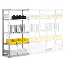 Anbaufeld für Fachbodenregal META Stecksystem. Fachlast 230kg, Höhe 3m