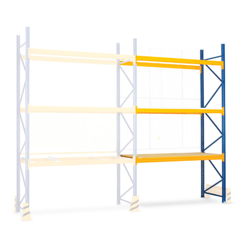Anbaufeld für Palettenregal Typ MPB. Regalhöhe bis 4500mm, Fachlast 1000 kg