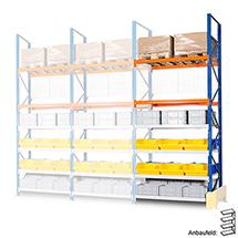 Anbaufeld für Weitspannregal/Palettenregal Schwerlast. Fachlast bis 2094 kg
