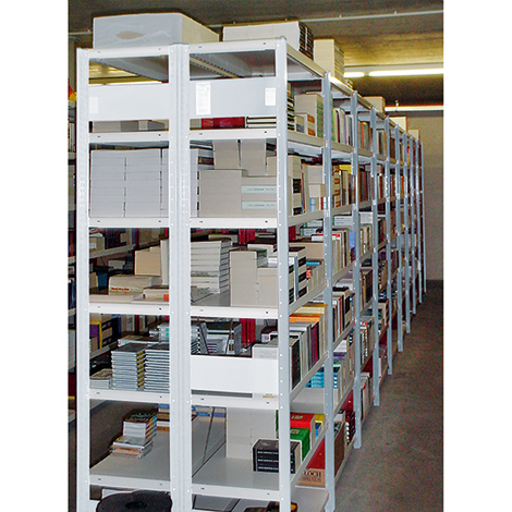 Anbaufeld für Weitspannregal Stecksystem doppelzeilig. Fachlast 230kg, lichtgrau