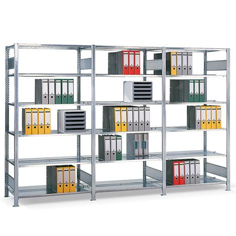 Anbaufelder für Aktenregal Stecksystem mit Leisten, doppelseitig