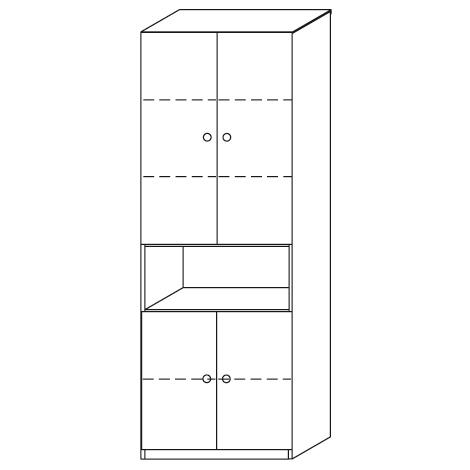 Anbauschrank JOBexpress mit 4Türen und 4 Böden