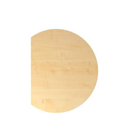 Anbautisch für Schreibtisch mit Memoryschalter, Dreiviertelkreis