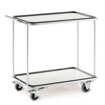 Anhängb. Müllsackhalterrahmen für Edelstahl-Tischwagen bis 200kg