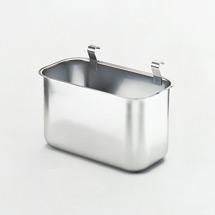 Anhängbarer Abfallbehälter für Edelstahl-Tischwagen bis 200kg