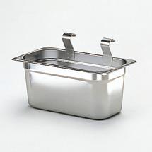 Anhängbarer Besteckbehälter für  Edelstahl-Tischwagen bis 200kg