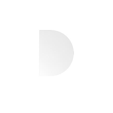 Ansatztisch HA60, 60x100 cm, Platte: weiß