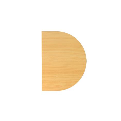 Ansatztisch LA60, 60 x 80 cm; Platte: 25mm dick
