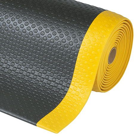 Anti-Ermüdungsmatte mit Noppen, Breite 910 mm, schwarz-gelb