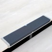 Antypoślizgowy profil krawędziowy z aluminium, czarny