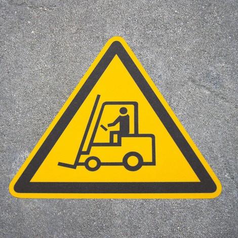 Antypoślizgowy znak podłogowy m2-– Achtung Stapler (Uwaga Wózek)