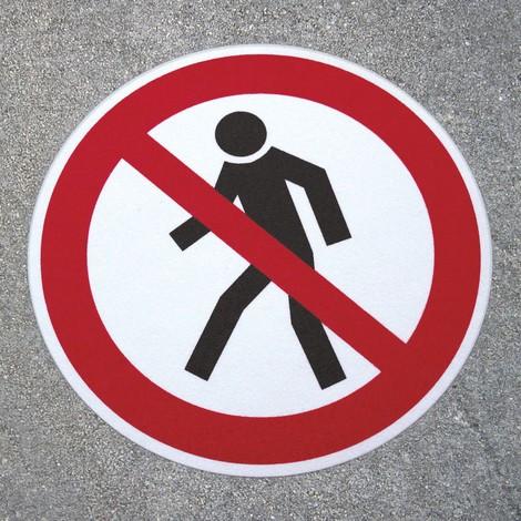 Antypoślizgowy znak podłogowy m2-– Durchgang verboten (Przejście zabronione)