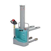 Apiladora eléctrica Ameise® EPL 110 - mástil sencillo, elevación de hasta 1600 mm, capacidad de 1000 kg.