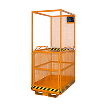 Arbeitsbühne, Ausführung zur Verwendung in Österreich, Tragkraft 300 kg, längs