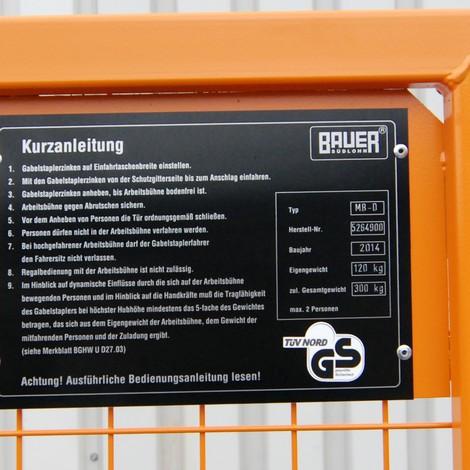 Arbeitsbühne Premium, Ausführung Deutschland, breit