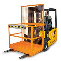Arbeitsbühne Premium. Breit, Tragkraft 300 kg, orange