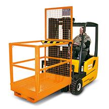 Arbeitsbühne Premium. Längs, Tragkraft 300 kg, orange