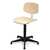 Arbeitsdrehstuhl, Drehspindel, Kunststoffkreuz, Buche oder PU mit Gleitern