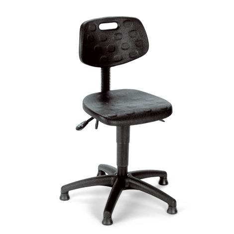 Arbeitsdrehstuhl, Gasfeder, Buche oder PU, Gleiter, niedrige Sitzhöhe