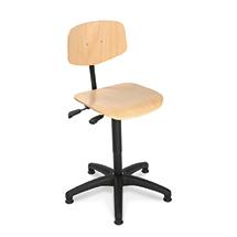 Arbeitsdrehstuhl, Gasfeder, Kunststoffkreuz, Buche oder PU, Gleiter