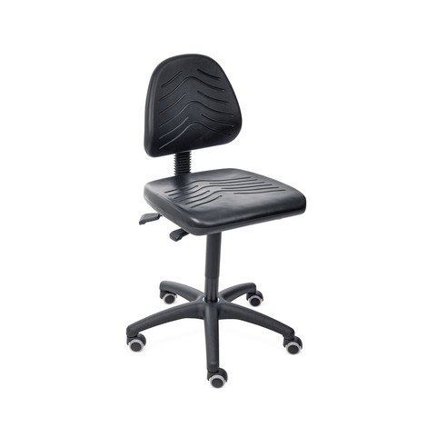 Arbeitsdrehstuhl Komfort, PU-Sitz