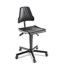 Arbeitsdrehstuhl. PU-Sitz, höhen- und neigungsverstellbar. Bis 120 kg belastbar