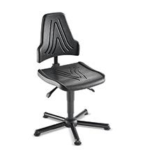 Arbeitsdrehstuhl. PU-Sitz, höhen- und neigungsverstellbar. Bis 150 kg belastbar
