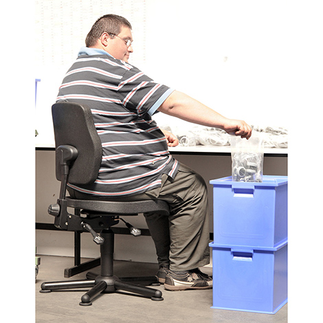 Arbeitsdrehstuhl XXL, bis 160kg belastbar, Bodengleiter
