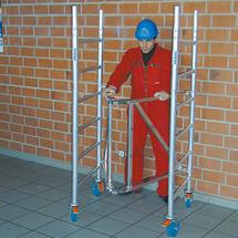 Arbeitsgerüst KRAUSE ® zum Falten. Mit 4 Rollen