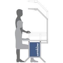 Arbeitsplatzsystem, Anbautisch, Höhenverstellung per Kurbel