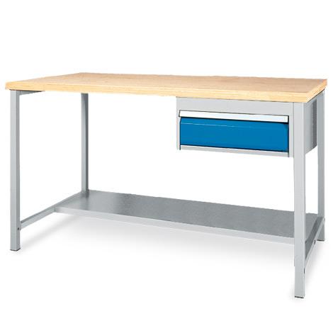 arbeitstisch mit ablage 1 schublade breite 1500 oder. Black Bedroom Furniture Sets. Home Design Ideas