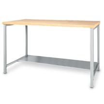 Arbeitstisch mit Ablageboden. Breite 1500 oder 2000 mm