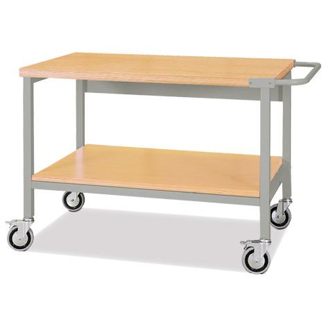 Arbeitstisch mit Rollen und 2 Etagen. Tragkraft 500 kg
