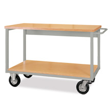 Arbeitstisch mit Rollen und 2 Etagen. Tragkraft 800 kg