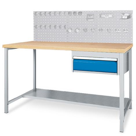 Arbeitstisch + Rückwand Komplett-Angebot. Breite 1500/2000mm